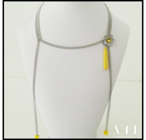 yellow Collier By Mee